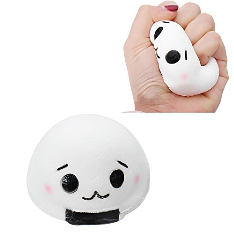 maubhya Squishy Onigiri Rice Rollボールソフトおもちゃ8 x 5.5 cm Slow Rising Cute Kawaiiコレクションギフト装飾おもちゃ