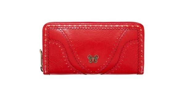 b425ff78c89f Amazon | アナスイ ANNA SUI 財布 長財布 レディース ノスタルジー ラウンドファスナー 長財布 (レッド) | 財布