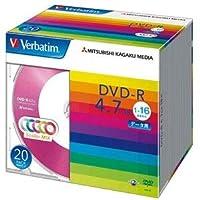 (まとめ)バーベイタム データ用DVD-R4.7GB 1-16倍速 5色カラーMIX 5mmスリムケース DHR47JM20V11パック(20枚:各色4枚) 【×3セット】