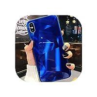 3DダイヤモンドiPhoneケースホログラフィックプリズムグラデーションカバー,青,iPhone 6S Plusの場合