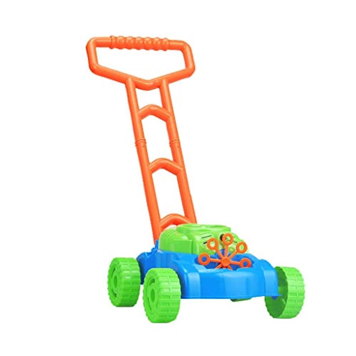 温かい干渉する本GOOD lask 子供のための自動こぼれ防止泡吹く芝刈り機屋外の庭のおもちゃ