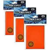 DEK PROT マジック+ポケモンサイズ ゲームカードプロテクター 180スリーブ チューリップオレンジ