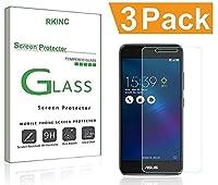 RKINCスクリーンプロテクター にとってAsus Zenfone 3 Max、[3パック] 強化ガラスクリアスクリーンプロテクター[9H硬度] [2.5Dラウンドエッジ] [スクラッチレジスト] にとってAsus Zenfone 3 Max