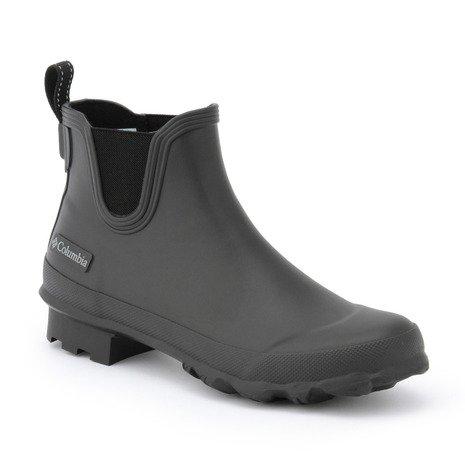 Columbia(コロンビア) レイン ブーツ RUDDY SLIP サイドゴブーツ 長靴 雨靴 レインシューズショートブーツ メンズ 010-Black 9.0(27.0cm) yu3774-90-010