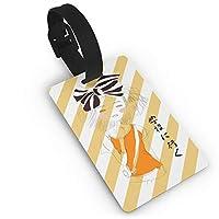 ネームタグ 学校に行く ラゲージタグ 荷物タグ ベルト リングバックル 便利グッズ 5.4x8.5cm旅行用品 名札 園児 スーツケース キッズ ジュニア おしゃれ