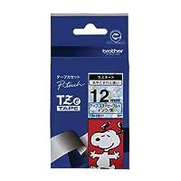 ブラザー工業 TZeテープ スヌーピーテープ(スヌーピーブルー/黒字) 12mm TZe-UB31