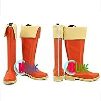 ●●サイズ選択可●●I1074ZCI コスプレ靴 ブーツ この素晴らしい世界に祝福を! めぐみん 女性24CM