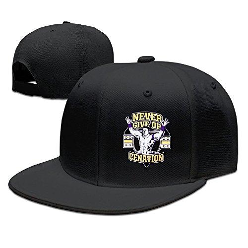 SmokyBird 平つばキャップ 野球帽 ヒップホップ系 サイズ調整可能 ジョン・シナ John Cena プロレスラー 強くなろう! BB Cap