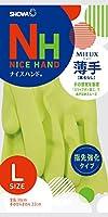 ショーワグローブ【指先強化タイプ】ナイスハンド ミュー 薄手 Lサイズ グリーン 1双