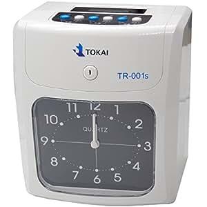 新品タイムレコーダー タイムカード レコーダー 本体 TR-001s 6欄印字可能 両面印字モデル タイムカード50枚付き