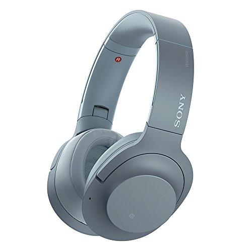 ソニー SONY ワイヤレスノイズキャンセリングヘッドホン h.ear on 2 Wireless NC WH-H900N : Bluetooth/ハイレゾ対応 最大28時間連続再生 密閉型 マイク付き 2017年モデル ムーンリットブルー WH-H900N L