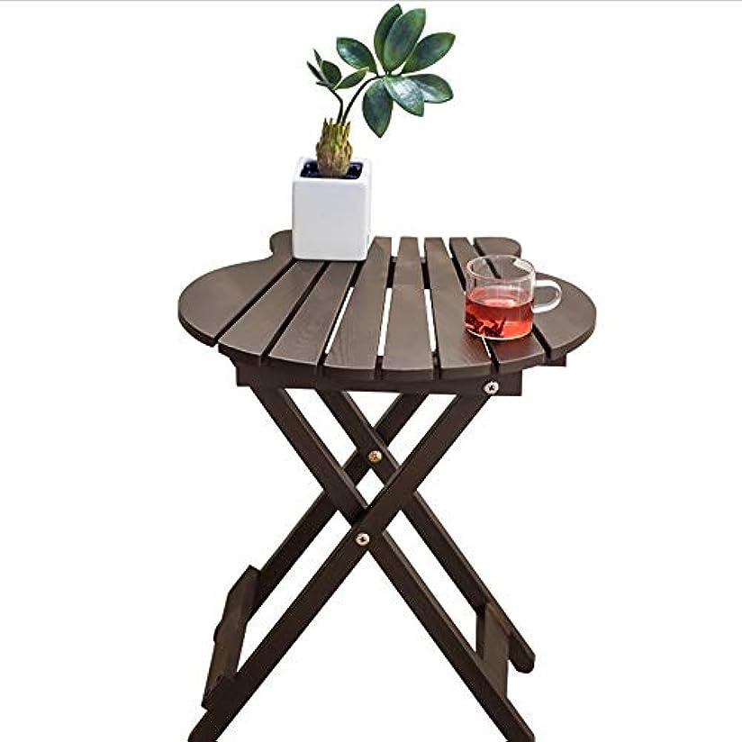 活気づく束ワゴンHUO,テーブル 折りたたみテーブルポータブルデスク小さな正方形テーブルコーヒーテーブルシンプルなバルコニー屋外テーブル-40 * 43 * 29cm (色 : 黒)