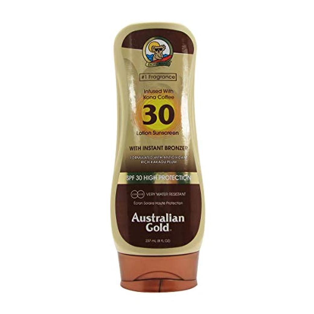 柔らかい静けさライブオーストラリアンゴールドローションSPF30インスタントブロンザー237ml