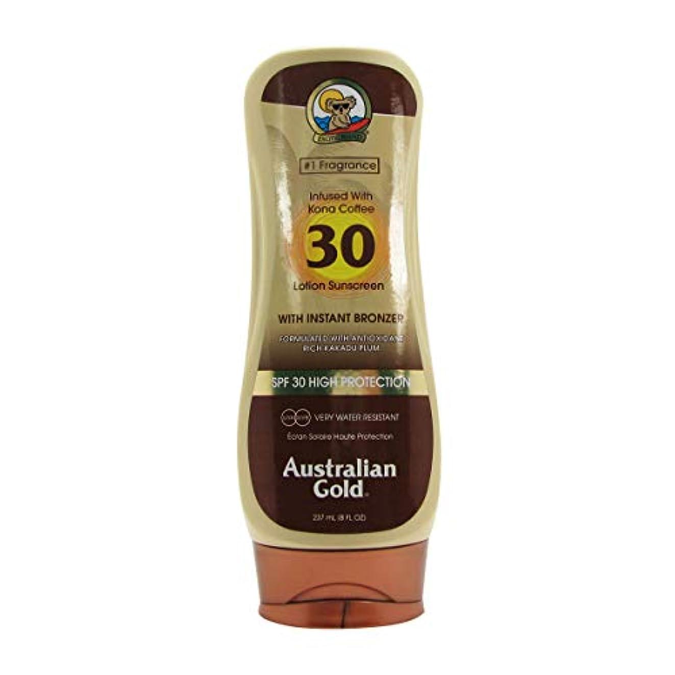 測定ほとんどない雄弁オーストラリアンゴールドローションSPF30インスタントブロンザー237ml