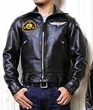 (トイズマッコイ)TOYS McCOY ライダース ジャケット シングル レザー モブスター ブラック ホースハイド MOBSTER JACKET AMERICAN MOTORCYCLE ASSOCIATION AMA TMJ1439 42 ブラック