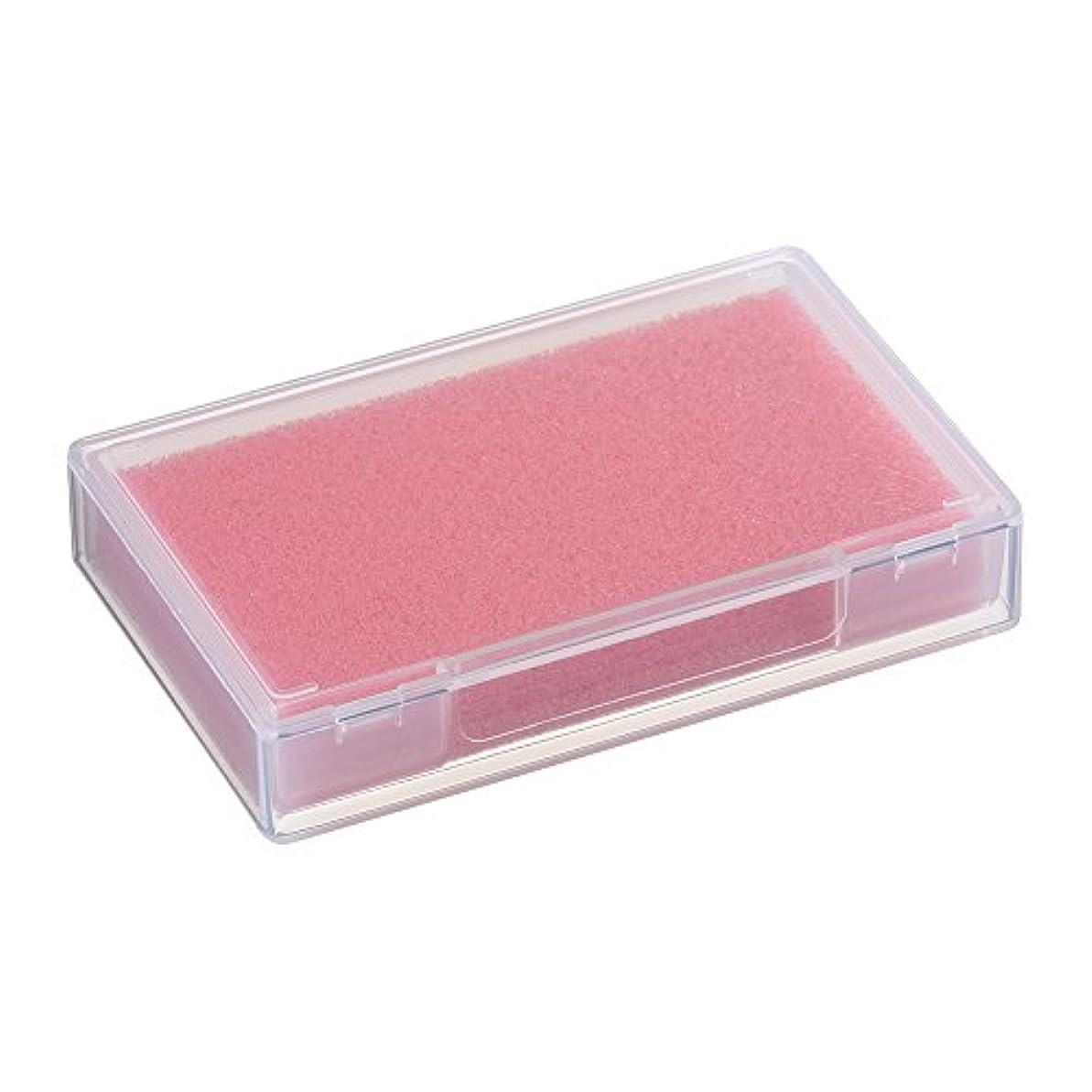 打倒怠抹消ネイルチップケース ピンク