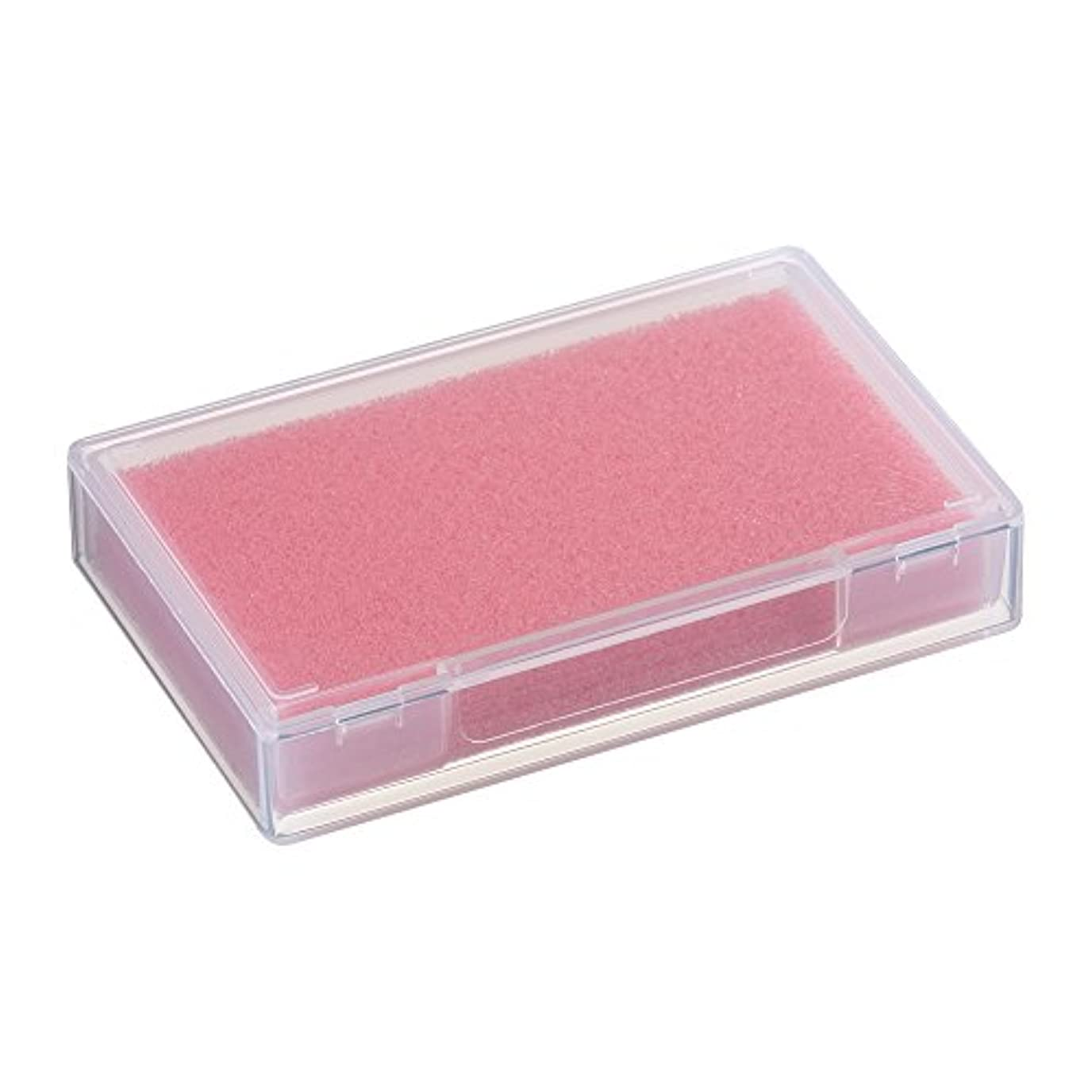 コーラス幸運なことに普遍的なネイルチップケース ピンク