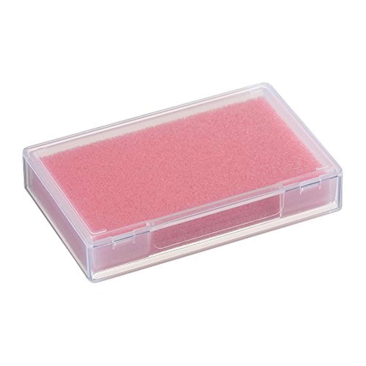 同化舌れるネイルチップケース ピンク