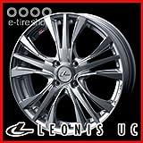 Weds LEONIS UC 15×4.5J PCD100/4H +45 [レオニス ユーシー](ホイール1枚) パールブラック/ミラーカット