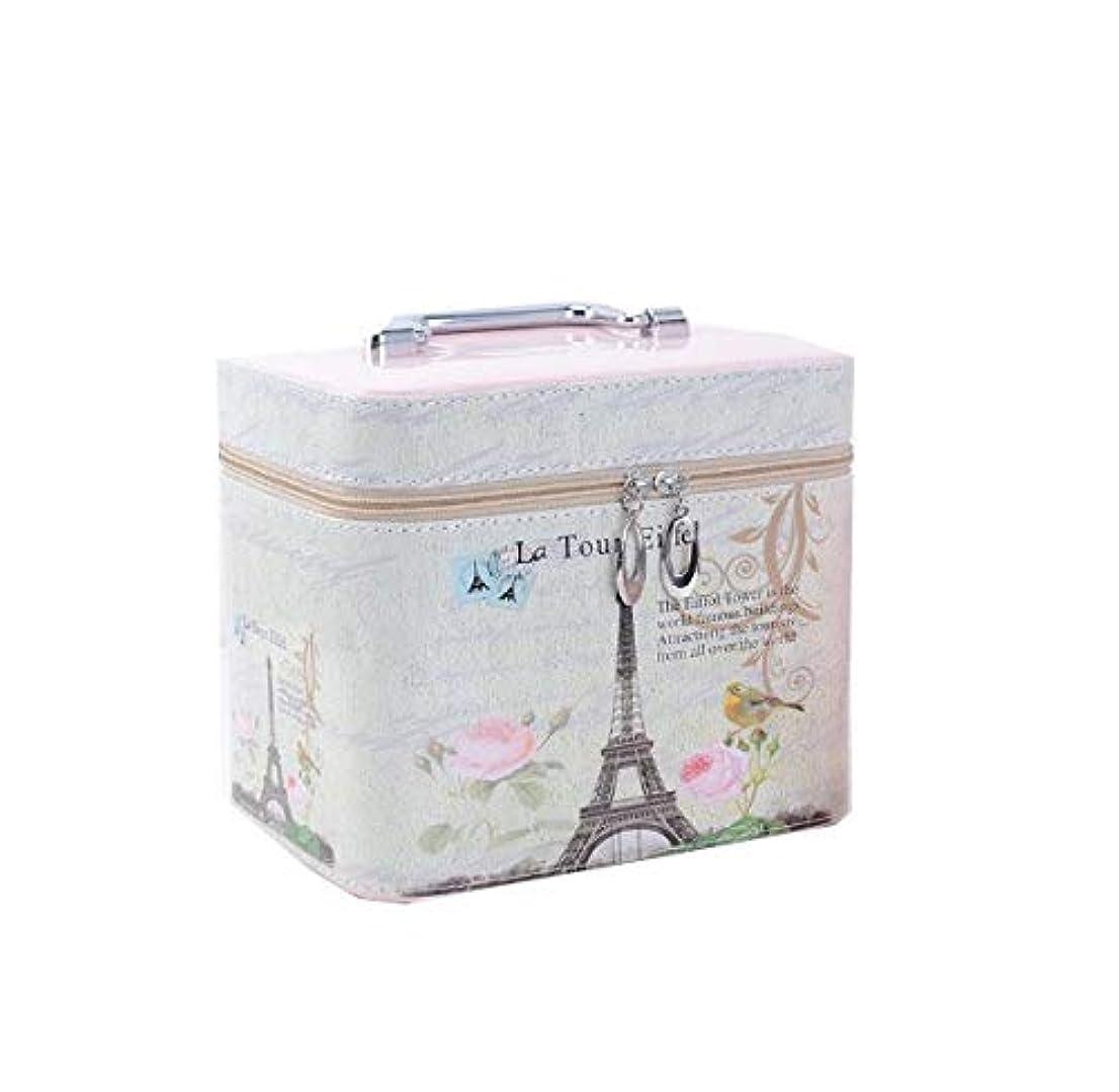 スツール被るふざけた化粧箱、ハイエンド大容量エッフェル塔、凱旋門化粧品ケース、ポータブルトラベル化粧品ケース、ミラー付き美容ネイルジュエリー収納ボックス (Design : 1#, Size : L)