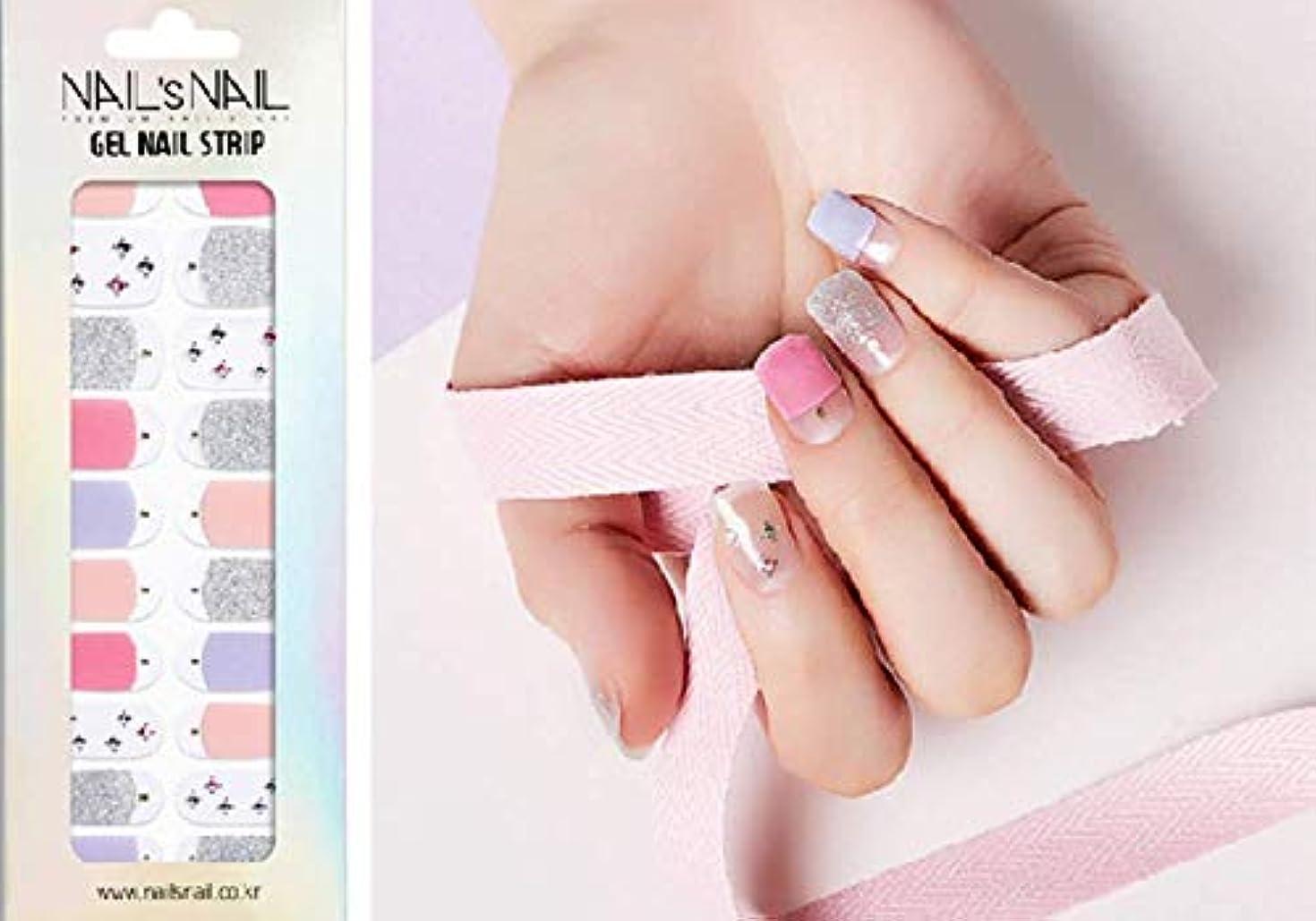 スペクトラム灰地平線\貼るジェルネイル/Nail's Nail(ネイルスネイル) ジェルネイルストリップ 103