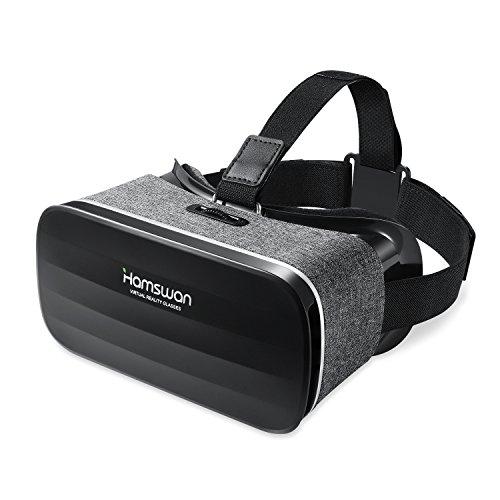 HAMSWAN 3D VR ゴーグル 超軽量VRメガネ 疑似体験3D眼鏡 3D動画/ゲーム用VR BOX 4.0~6.0インチスマホiOS/ Androidに対応3Dグラス(グレー)