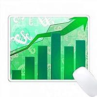 ヨーロッパのドル記号を使った緑の成功のグラフ PC Mouse Pad パソコン マウスパッド