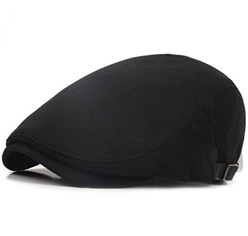 Eternal Leaf おしゃれ ハンチング帽子 シンプル & ベーシック スタイル ハンチング メンズ レディース フリーサイズ (ブラック)