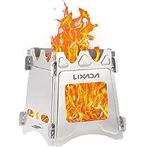 Lixada バーベキューコンロ 焚火台 ファイアスタンド 折りたたみ 薪 ウッドストーブ アウトドアストーブ 組立簡単 コンパクト 軽量 収納袋 (1065S)