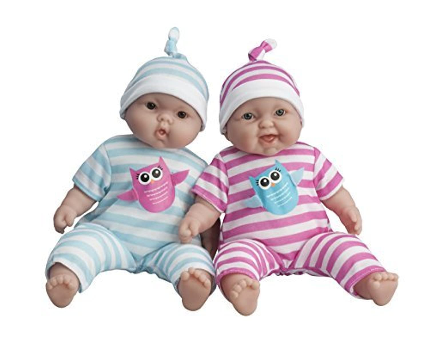 JC Toys Lots to Cuddle Babies, 13-Inch Baby Soft Doll Soft Body Twins, Designed by Berenguer by JC Toys