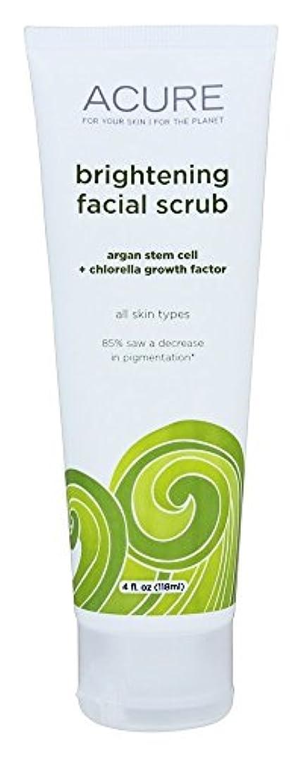 ACURE - 明るくなるFacialはArganのエキス+クロレラをごしごし洗う - 4ポンド [並行輸入品]