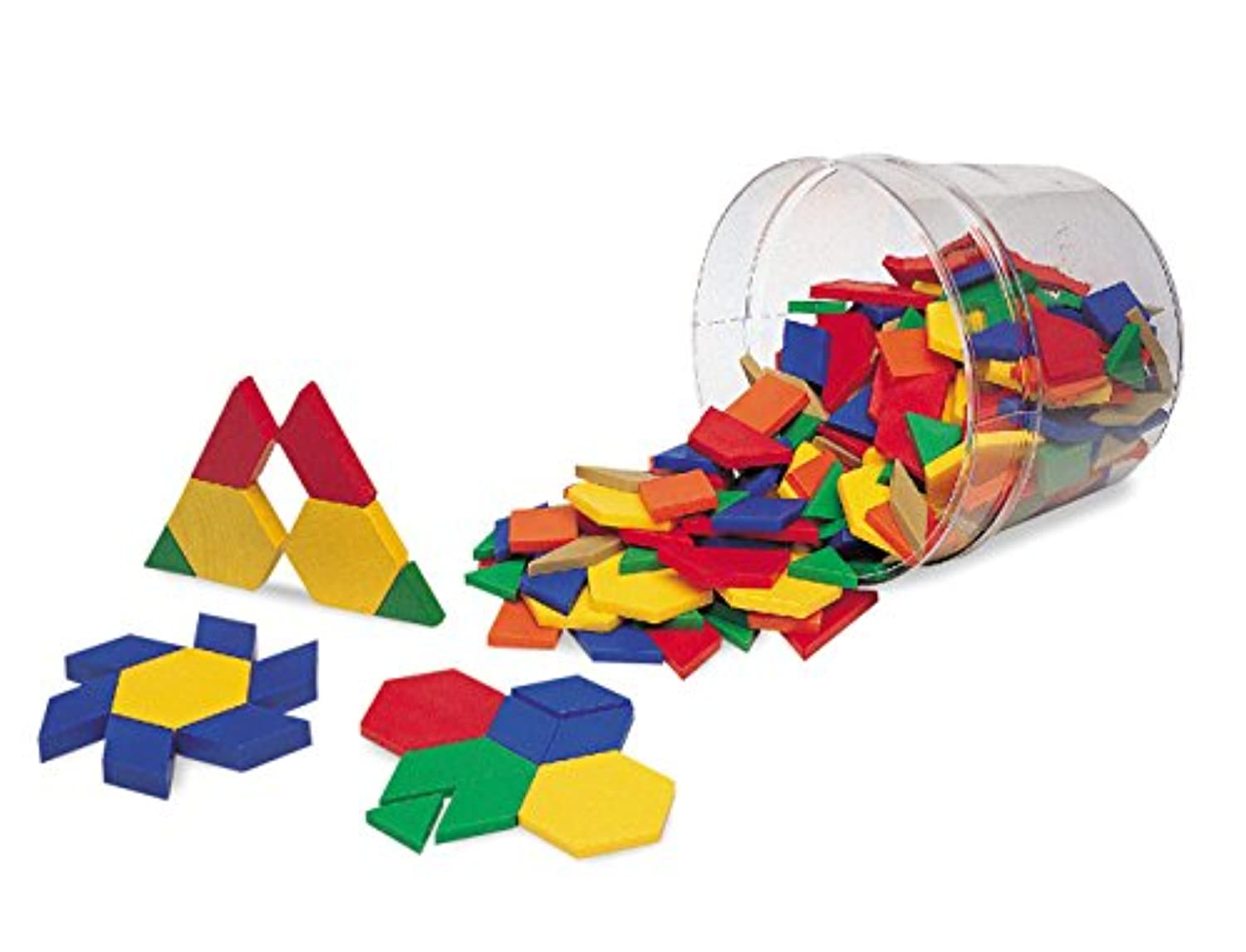 Learning Resources Pattern Blocks パターンブロック (プラスチック製:250個セット) 正規品