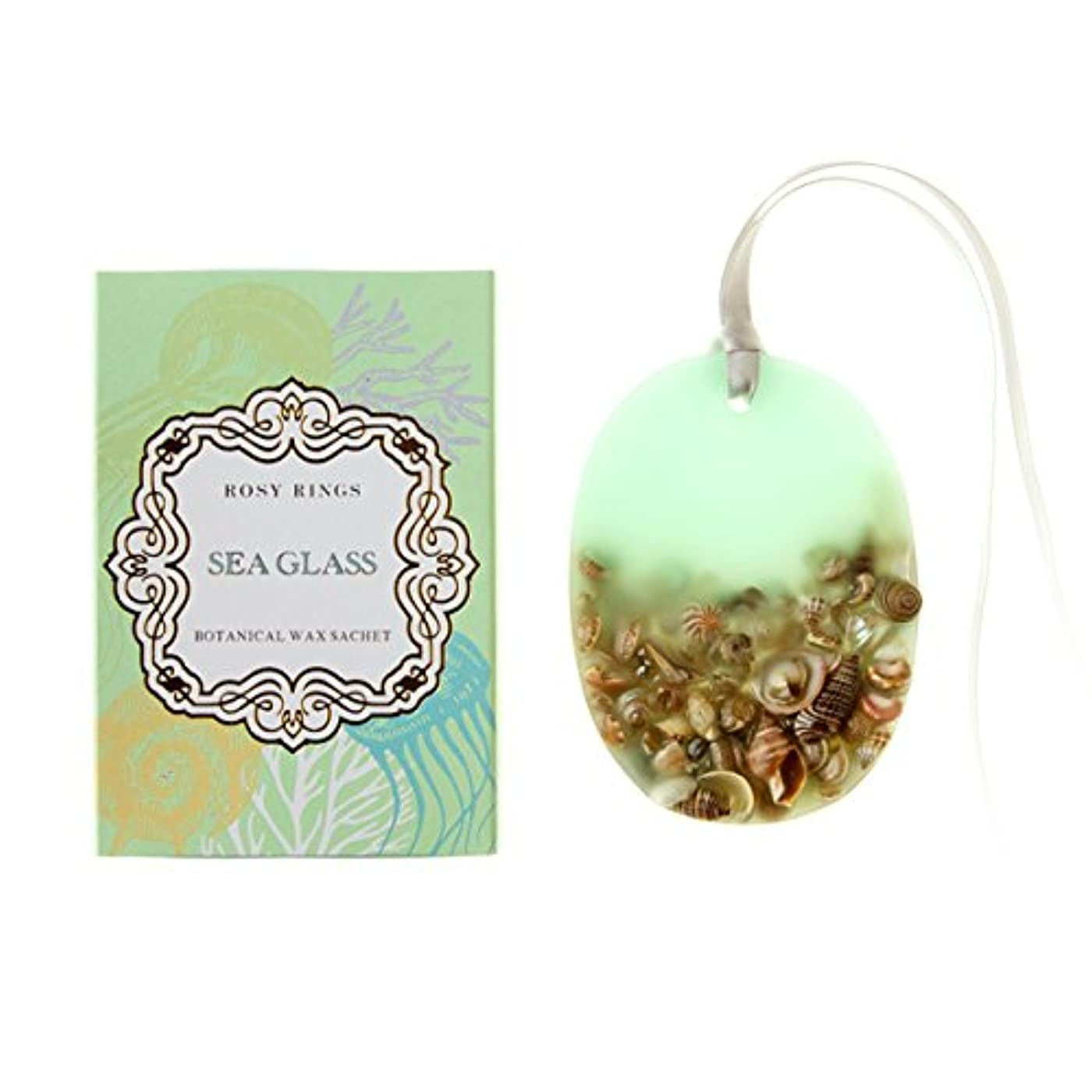 大量カイウスカニロージーリングス プティボタニカルサシェ シーグラス ROSY RINGS Petite Oval Botanical Wax Sachet Sea Glass