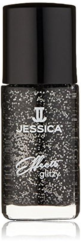 チャネル掘る蒸気Jessica Effects Nail Lacquer - Bling in Black - 15ml / 0.5oz