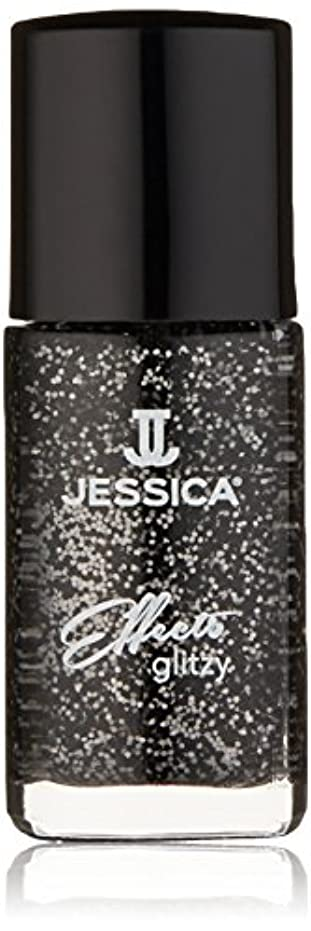 フローティング乱用ドックJessica Effects Nail Lacquer - Bling in Black - 15ml / 0.5oz
