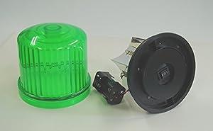 新型・LED回転灯 緑色【回転・点滅】 電池式MK-Ⅱ 強力マグネット付 単3x4本 LS-HKZ0045