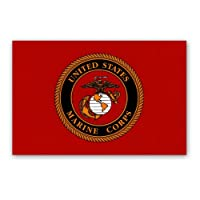 "Flag It Marine Flag Decal - 3 ス"" x 5"" - High Gloss UV Coated Laminate Water Proof Sticker DECAL"