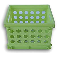 グリーンプラスチック収納ボックス/レート。 Small/Mini グリーン