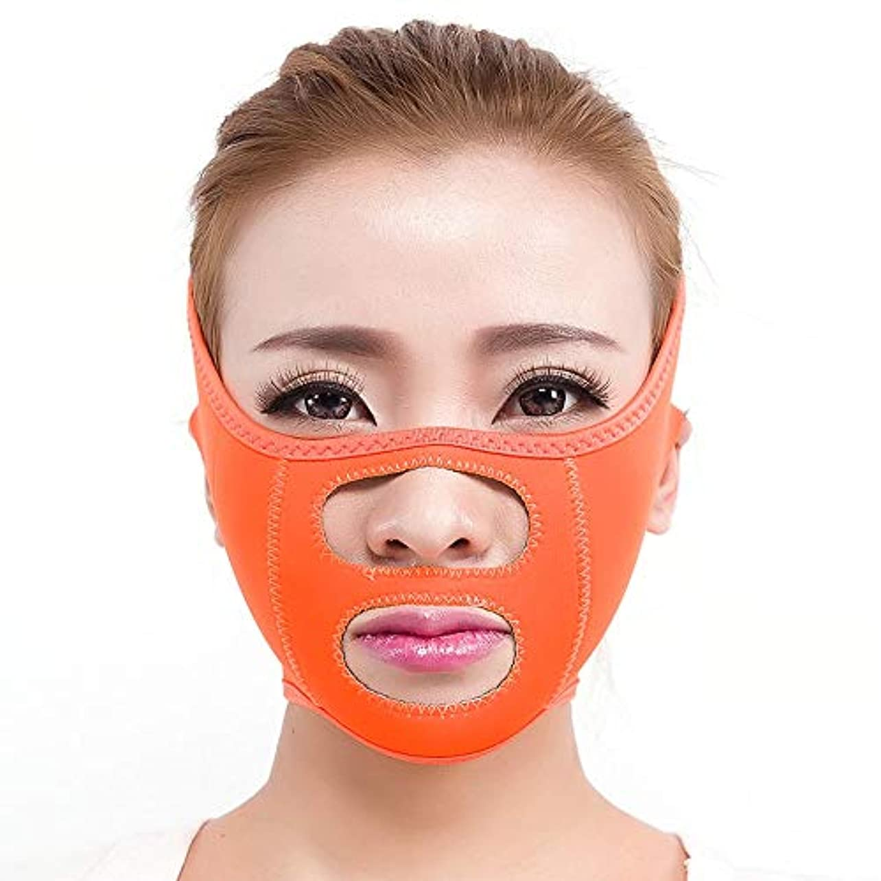 GYZ シンフェイスマスクシンフェイス包帯シンフェイスアーティファクトシンフェイスフェイシャルリフティングシンフェイススモールVフェイススリープシンフェイスベルト Thin Face Belt (Color : A)