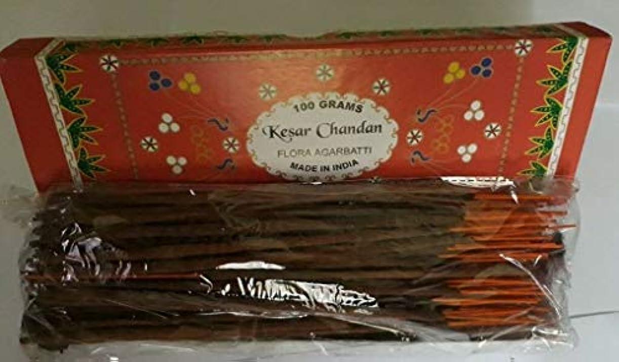 間隔解説記念品Kesar Chandan (Saffron Sandal) サフラン サンダル Agarbatti Incense Sticks 線香 100 grams Flora Incense フローラ線香