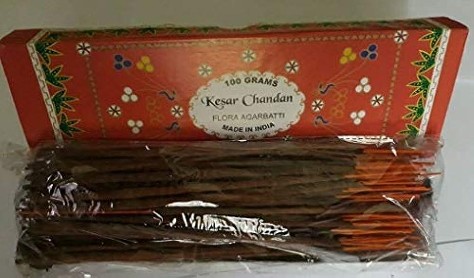 腫瘍歴史方向Kesar Chandan (Saffron Sandal) サフラン サンダル Agarbatti Incense Sticks 線香 100 grams Flora Incense フローラ線香