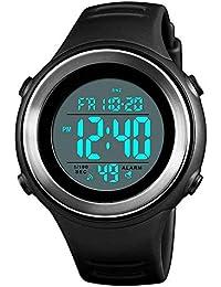 Timever(タイムエバー)メンズ腕時計 デジタル 多機能スポーツウォッチ ストップウォッチ 大文字見やすい アウトドア マラソン用など クリスマスプレゼント ギフトボックス付き 日本語説明書あり