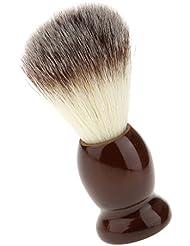 SONONIA ナイロン製 シェービングブラシ サロン 柔らかい 髭剃り 洗顔 理容   便携 10.5cm  ブラウン