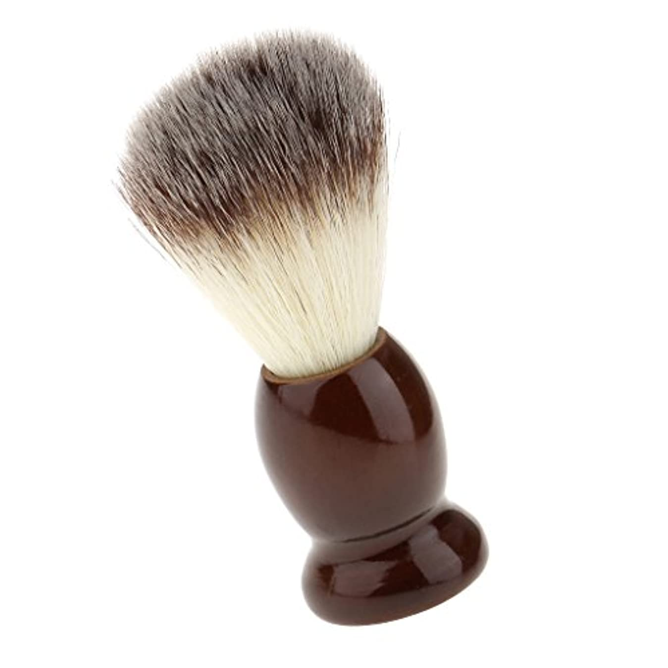 アライメント単なる雨のSONONIA ナイロン製 シェービングブラシ サロン 柔らかい 髭剃り 洗顔 理容   便携 10.5cm  ブラウン