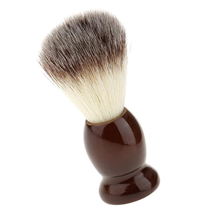 極めて重要なメナジェリーメロドラマティックSONONIA ナイロン製 シェービングブラシ サロン 柔らかい 髭剃り 洗顔 理容   便携 10.5cm  ブラウン