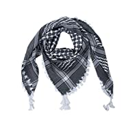 "Merewill Cotton Shemagh Tactical Desert Wrap Keffiyeh Head Neck Arab Scarf for Men 49""x49"""