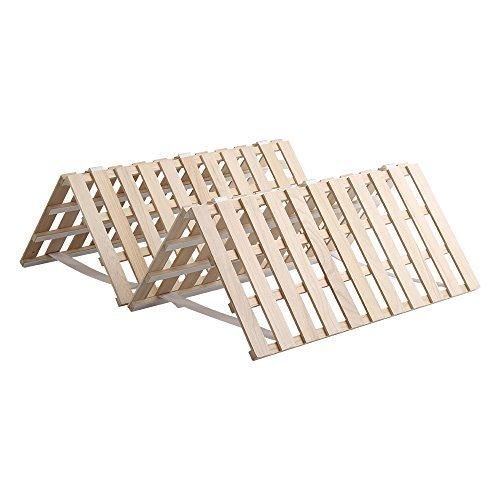 すのこマット すのこベッド 4つ折り式 桐仕様(シングル)【Sommeil-ソメイユ-】 ベッド 折りたたみ 折り畳み すのこベッド 桐 すのこ 四つ折り 木製 湿気