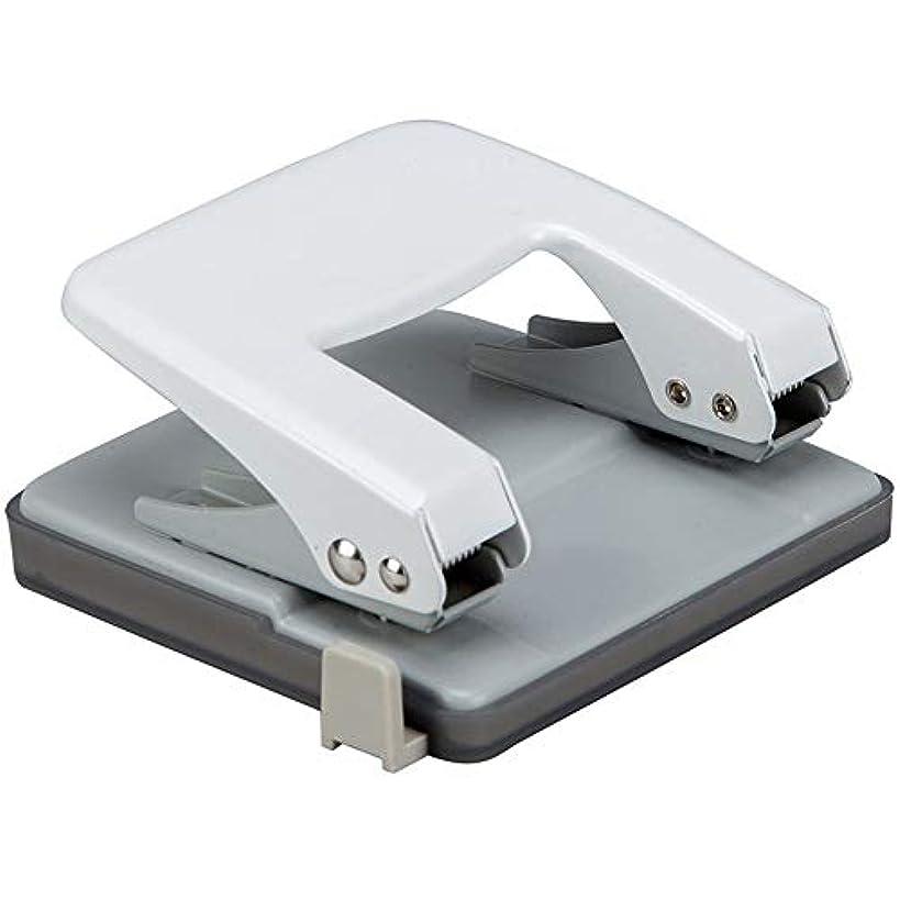 白鳥平均調査穴あけパンチ 金属パンチャー二重穴デスクトップ25ページ穴パンチ穴パンチルーラーパンチャー付きの耐久性のある文房具 事務器 穴あけパンチ