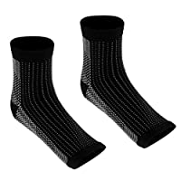 Perfeclan 1対 運動 足首圧縮袖口 フットブレース 靴下 速乾性 全4選択し - 男性44-47