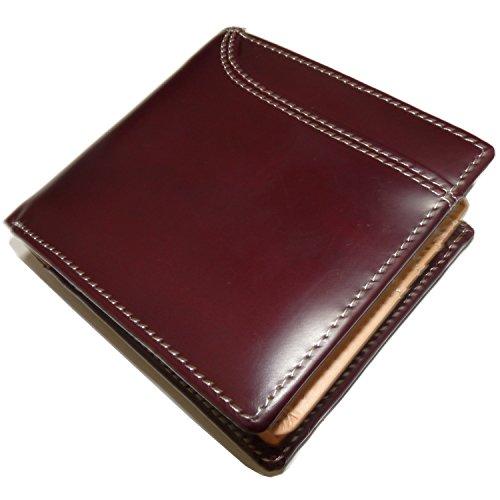 [Maturi マトゥーリ] かっこいい二つ折財布 (UPIMAR イタリアンレザー カードスロット付) (ブラウン)